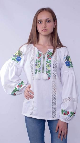 Вишита блузка «Борщівська» - Косівська Вишиванка