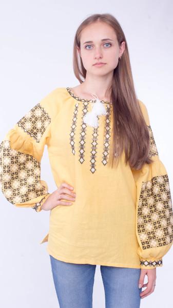 Вишита блузка «Шахи» - Косівська Вишиванка
