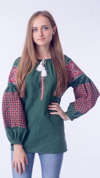 Вишита блузка 0077 - Косівська Вишиванка