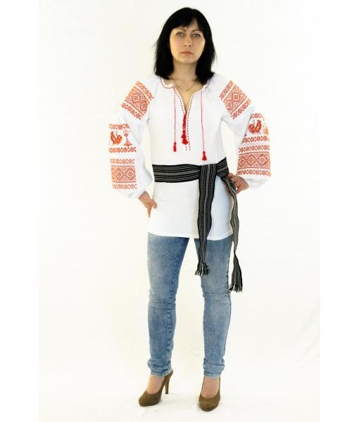 Вишита блузка «Півники» - Косівська Вишиванка