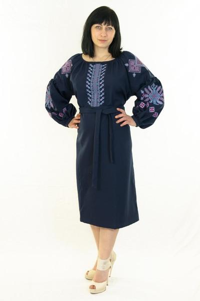 Плаття - бохо синє - Косівська Вишиванка